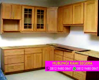Jasa Pembuatan Kitchen Set Jati Belanda Cinere Depok 0812 9480