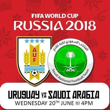URUGUAY VS SAUDI ARABIA LIVE STREAM WORLD CUP 20 JUNE 2018