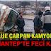 Gaziantep'te Refüje çarpan kamyonet devrildi!