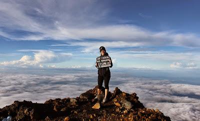 Summit of Mount Rinjani 3726 m