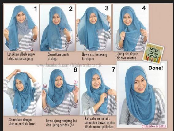 Gaya Hijab Segi Empat Simple Untuk Pipi chubby Wajah Bulat Terbaru yang Sederhana