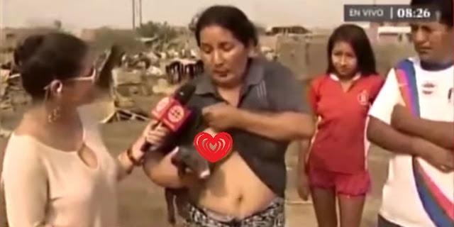 Viral Wanita Peru Menyusui Anak Babi saat Wawancara di TV
