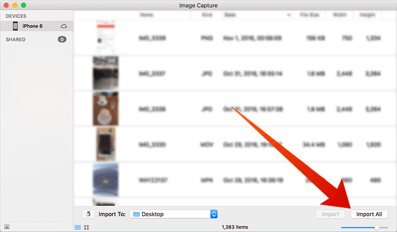 transfer photos from ios to mac