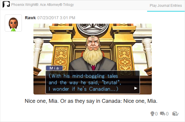 Phoenix Wright Ace Attorney Trials and Tribulations Canadian Judge Mia Fey