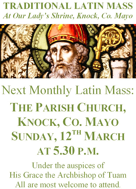 March 2017 Monthly Latin Mass in Knock