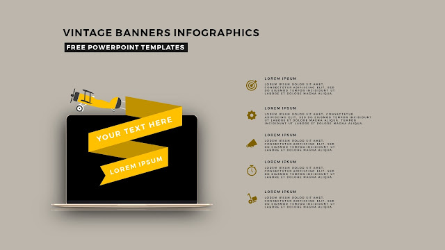 Vintage Banners Infographic Free PowerPoint Template Slide 3