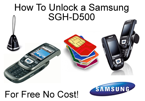 How To Unlock a Samsung SGH-D500 Mobile Phone Sim Free / All