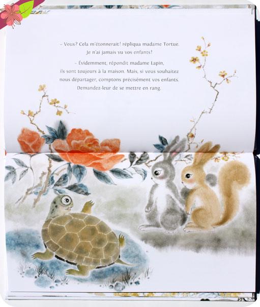 Les lapins et la tortue de Guillaume Olive et He Zhihong - Les éditions des éléphants