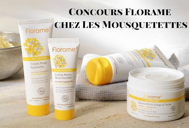 Résultat Concours Florame sur le blog beauté Les Mousquetettes