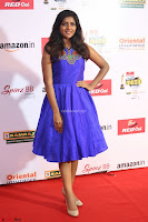 Eesha in Cute Blue Sleevelss Short Frock at Mirchi Music Awards South 2017 ~  Exclusive Celebrities Galleries 006.JPG