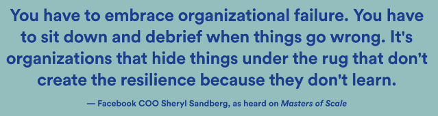 Sheryl Sandberg on Organizational Failure
