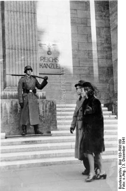 A German guard outside the Reichskanzlei, 3 December 1941 worldwartwo.filminspector.com