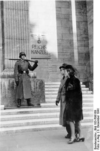 A German guard outside the Reichskanzlei, 3 December 1941 worldwartwo.filminspector.com
