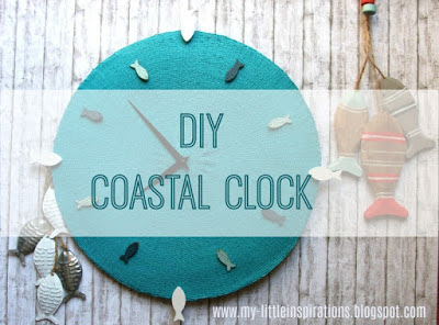 Tutorial Lanterna DIY in Stile Coastal con Conchiglie - orologio - MLI