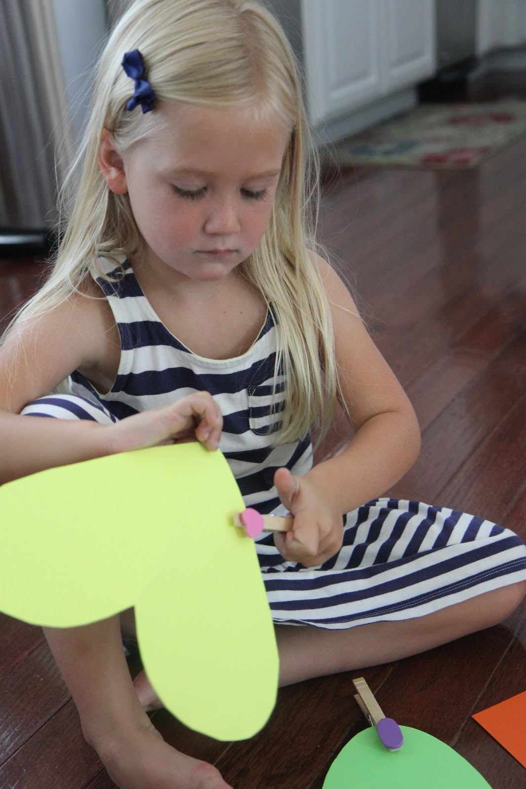 Toddler Approved Shape Clothespin Matching Activity