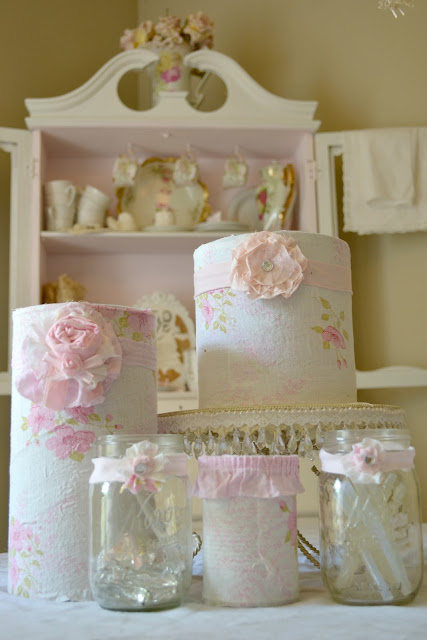 Olivia's Romantic Home: Shabby Craft Room Recycled Coffee ...