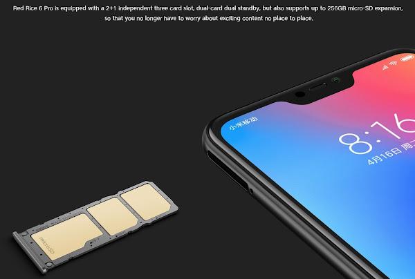 Xiaomi Redmi 6 Pro dual SIM and microSD