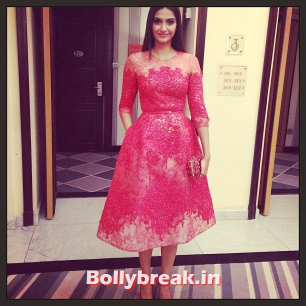 Sonam Kapoor, Who Looks the Hottest in Red Party Dress