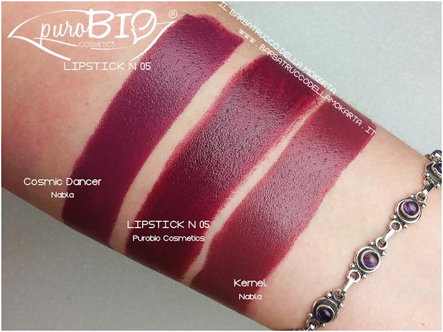 comparazioni ,  lipstick n 05 ,  rossetti purobio , lipstick, vegan makeup, bio makeup