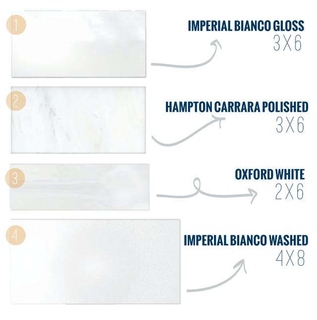 Variations of White Subway Tile - Chris Loves Julia