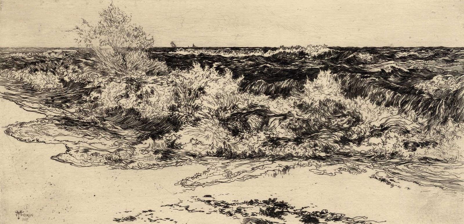 Prints And Principles Thomas Moran S Etching The Sounding Sea