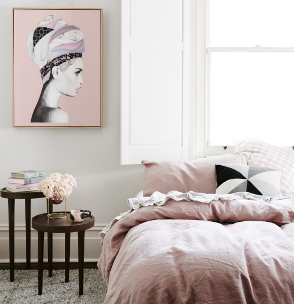 Artwork helps to anchor a bedroom and ultimately creates the overall style and feel of the room
