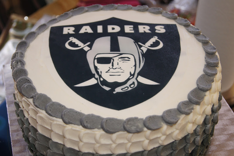 The Novice Goddess' Kitchen Oakland Raiders Birthday Cake