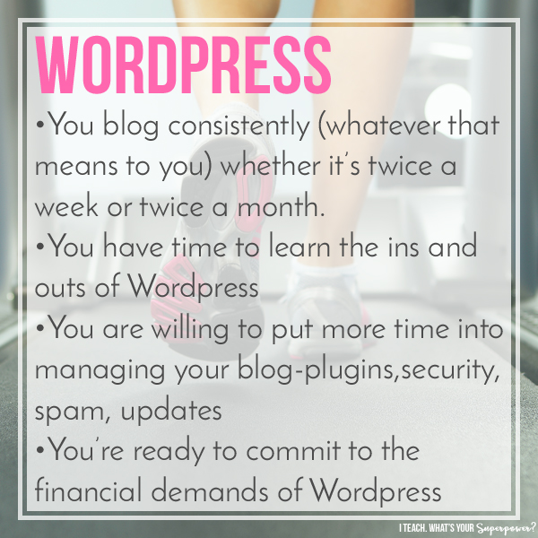 You are ready to move to Wordpress if . . .