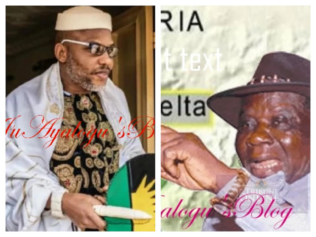 Edwin Clark is a slave fighting for 13 percent resource control – Nnamdi Kanu