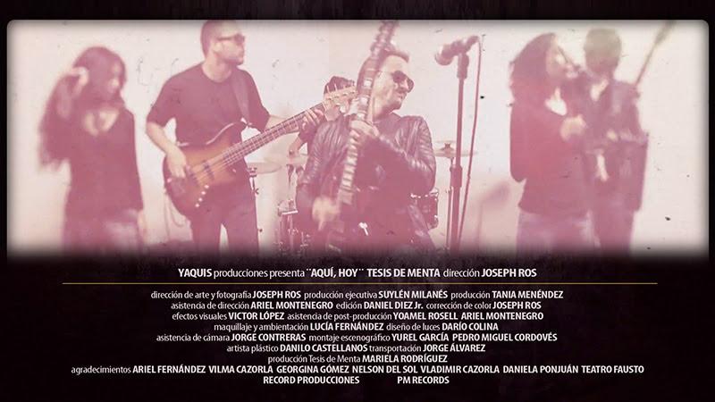 Tesis de Menta - ¨Aquí, Hoy¨ - Videoclip - Dirección: Joseph Ros. Portal Del Vídeo Clip Cubano - 01