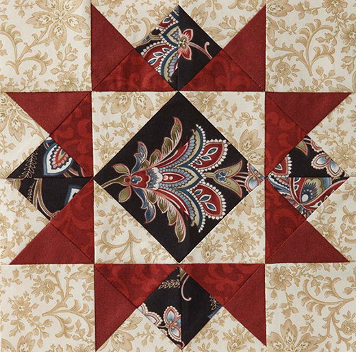 Mystery Quilt Block 2 Free Pattern designed by Monique Dillard of Open Gate Quilts