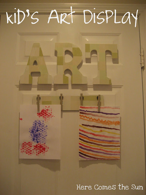 Here Comes the Sun: Kid's Art Display
