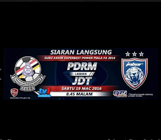 live streaming jdt vs pdrm 19.3.2016