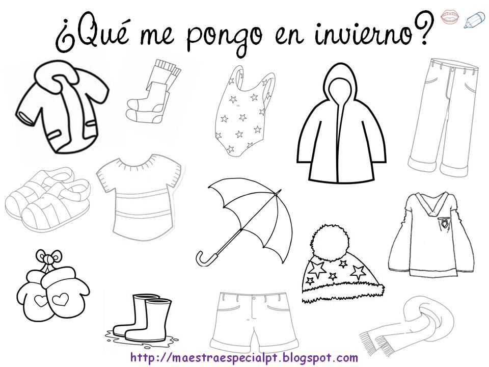 Dibujos De Las 4 Estaciones Para Colorear: RECURSOS PARA EDUCACIÓN INFANTIL : FICHA PARA COLOREAR