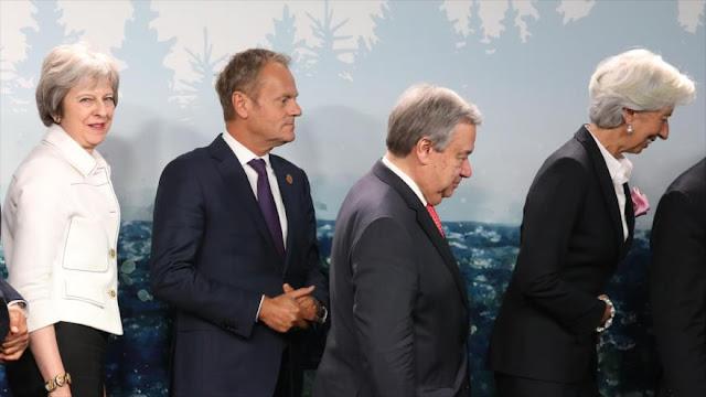 """El G7 exige a Rusia que """"deje de debilitar sistemas democráticos"""""""