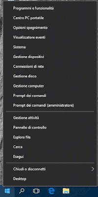 Menu Windows X di Windows 10
