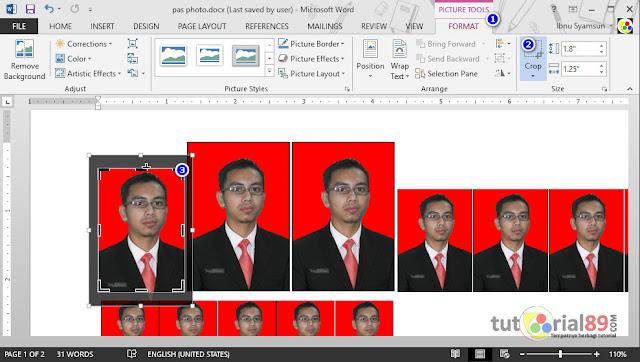 Cara print pas photo langsung di word sesuai ukuran asli + video