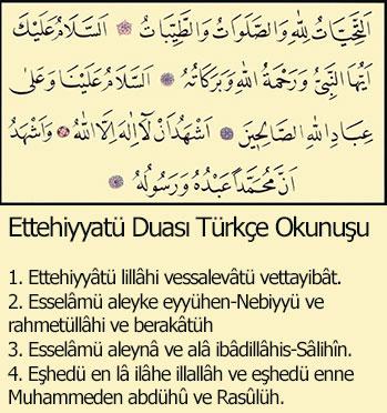 ettehiyyatü duasi türkçe okunuşu ve anlamı