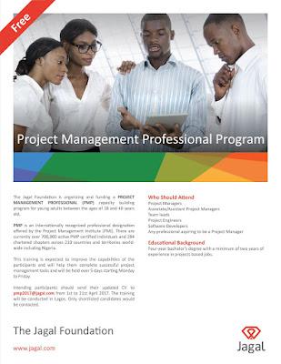 Project Management Professional Program at Jagal Foundation