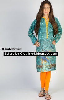 Gul Ahmed Digital Shirts Designs 2015