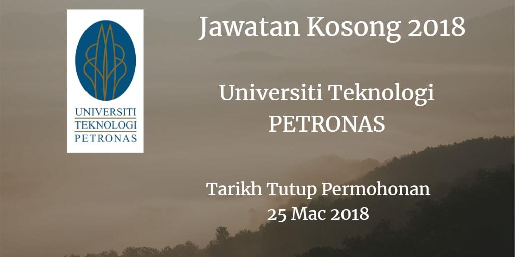 Jawatan Kosong UTP 25 Mac 2018