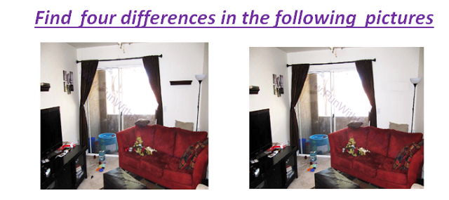 Spot The Differences Room Picture Puzzle