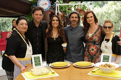 Na foto: Vera, Bertolazzi, Ticiana, Willian, Dahoui e Stella. Crédito: Victor Silva/SBT