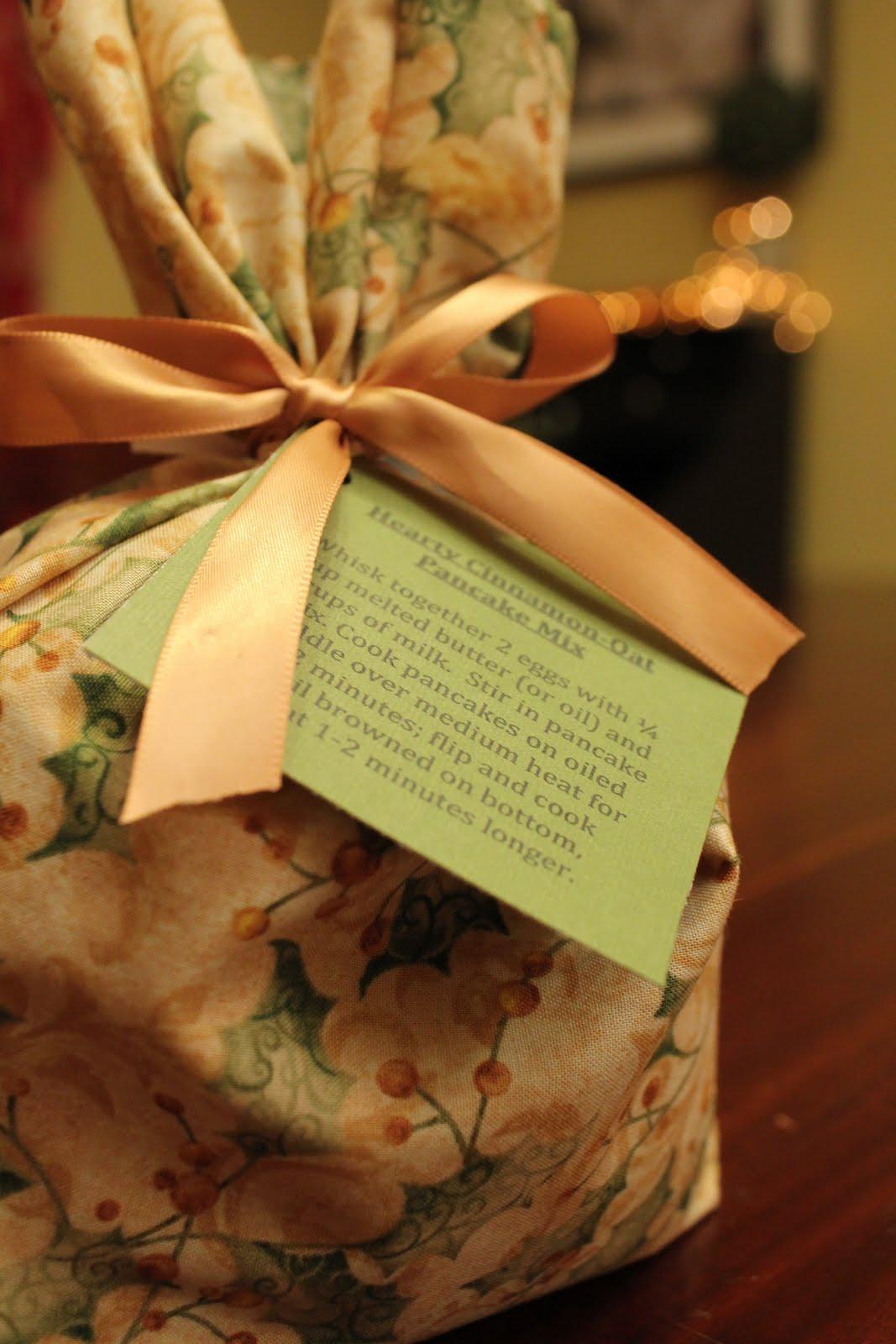 Pancake Mix in a Fabric Gift Bag