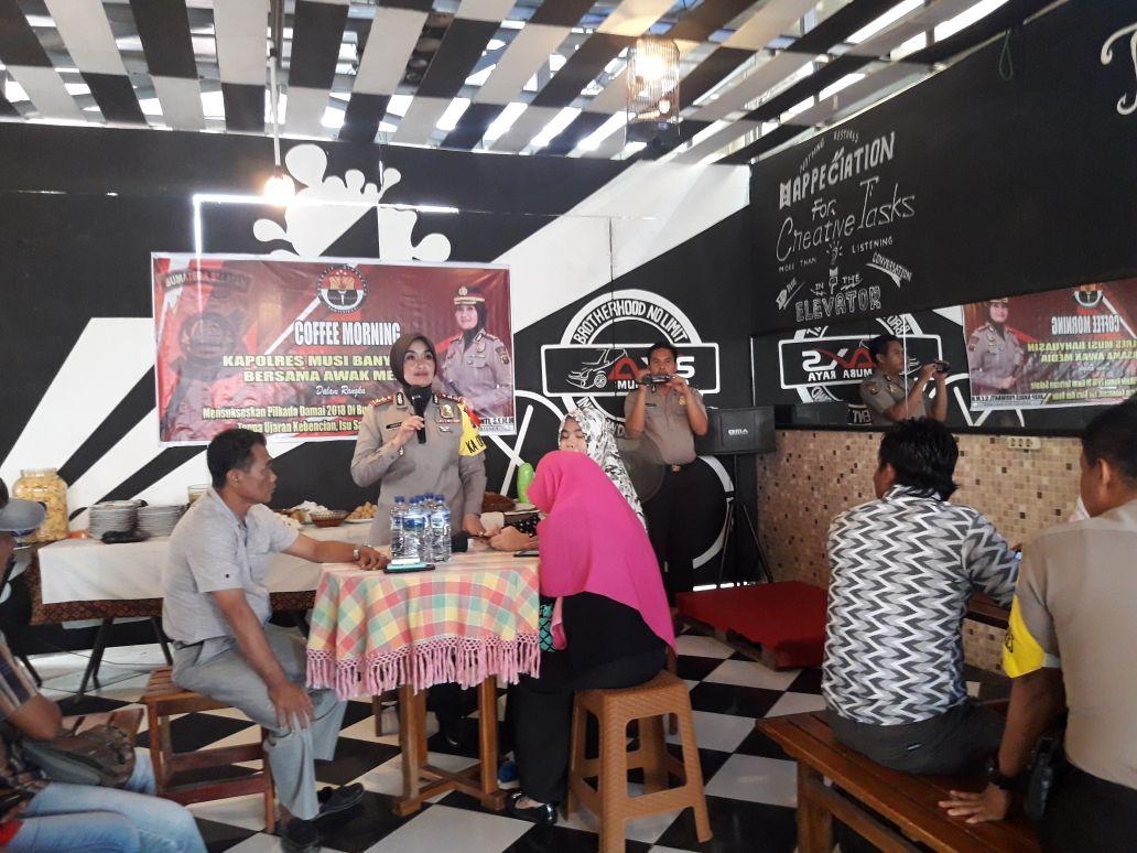 Wartawan Se Kabupaten Muba Coffee Morning Bersama AKBP Andes