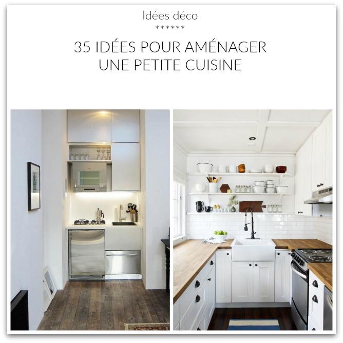 Home garden 35 id es pour am nager une petite cuisine - Amenager une petite cuisine ...