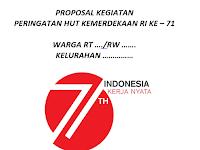 Download Contoh Proposal Kegiatan Peringatan Kemerdekaan RI 71