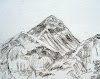 Sketches of Mt. Everest and Mt. Machhapuchhre