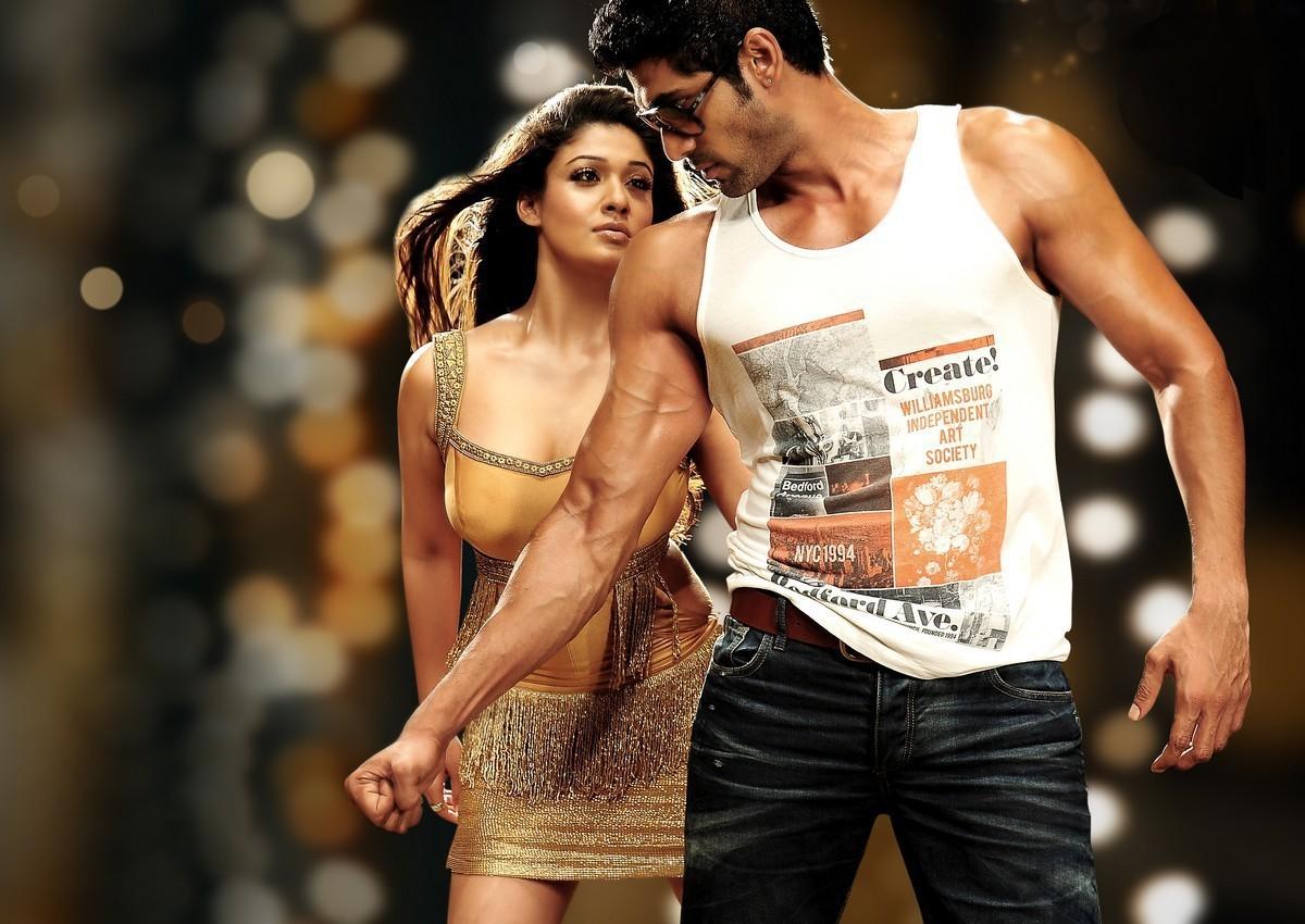 Nayantara hot song, Nayantara in golden dress, Nayantara enjoys by hero