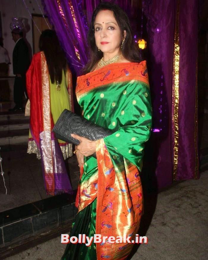 Hema Malini, Nikitin Dheer, Kratika Sengar Wedding Pics